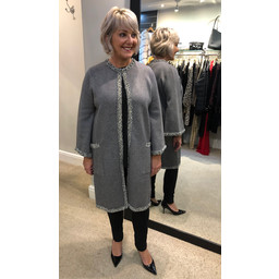 Malissa J Cassie Bell Sleeve Coatigan - Grey