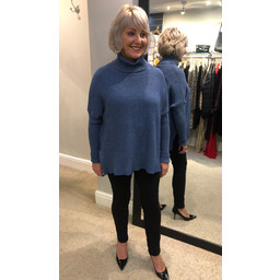 Lucy Cobb Janette Jumper - Denim Blue