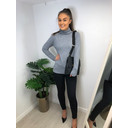 Petra Polo Neck - Grey