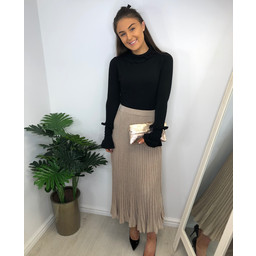 Lucy Cobb Kerrie Knitted Sparkle Skirt - Gold
