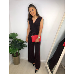 Lucy Cobb Jessie Sparkle Jumpsuit in Red