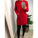 Kyla Kintted Tunic - Red