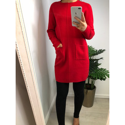 Lucy Cobb Kyla Kintted Tunic - Red