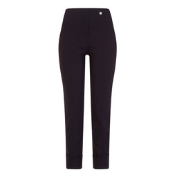 Robell Trousers Bella 09 Ultra Thin Fleece Trousers in Navy