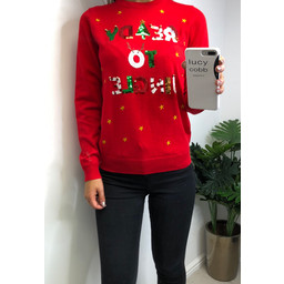 Lucy Cobb Ready To Jingle Christmas Jumper  - Red