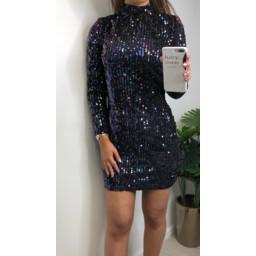 Lucy Cobb Sophia Sequin Dress  - Black