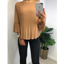 Connie Pleated Top - Camel