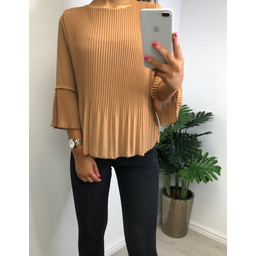 Lucy Cobb Connie Pleated Top - Camel