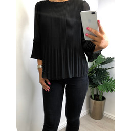 Lucy Cobb Connie Pleated Top in Black