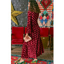 Yana 3/4 Sleeve Maxi Dress - Velvet Abstract Bordeaux - Alternative 2