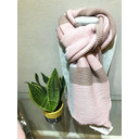 Crinkled Check Scarf - Pink