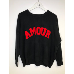 Lucy Cobb Amour Oversized Jumper - Black