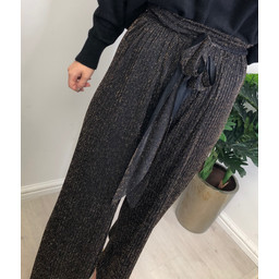 Lucy Cobb Palermo Pleated Trousers - Black Gold