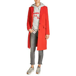 Oui Classic Wool Coat in Red