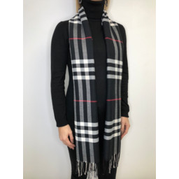 Lucy Cobb Check Scarf - Black