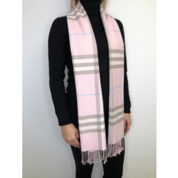 Lucy Cobb Check Scarf in Pink