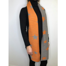 Lucy Cobb Zodiac Star Scarf in Orange