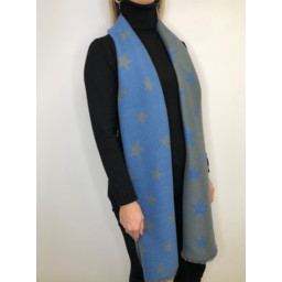 Lucy Cobb Zodiac Star Scarf in Blue