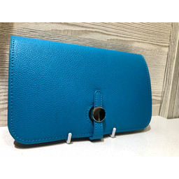 Lucy Cobb Travel Wallet with Purse in Turquoise