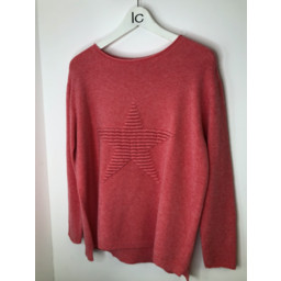 Lucy Cobb Star Jumper in Coral