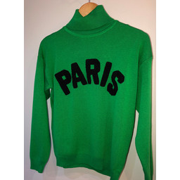 Lucy Cobb Paris Polo Neck Jumper  - Green