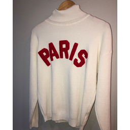 Lucy Cobb Paris Polo Neck Jumper  - Ivory