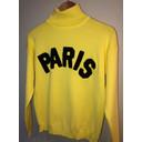 Paris Polo Neck Jumper  - Lemon