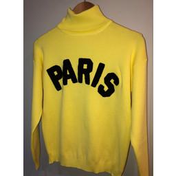Lucy Cobb Paris Polo Neck Jumper  in Lemon