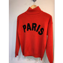 Paris Polo Neck Jumper  - Red
