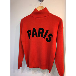 Lucy Cobb Paris Polo Neck Jumper  - Red
