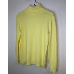 Lucy Cobb Petra Brushed Polo Neck Jumper  - Lemon