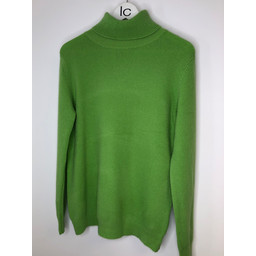 Lucy Cobb Petra Brushed Polo Neck Jumper  - Lime Green