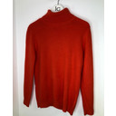 Petra Brushed Polo Neck Jumper  - Orange