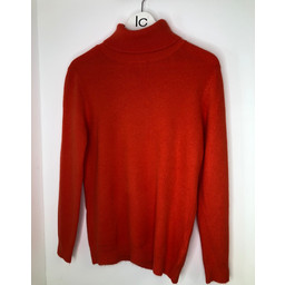 Lucy Cobb Petra Brushed Polo Neck Jumper  - Orange