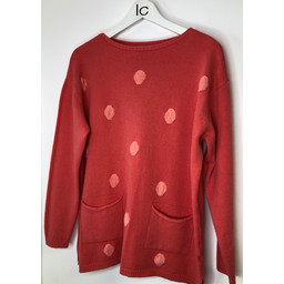 Lucy Cobb Susie Spot Jumper  - Coral