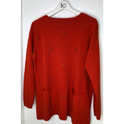 Lucy Cobb Susie Spot Jumper  - Orange