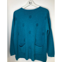 Lucy Cobb Susie Spot Jumper  - Teal