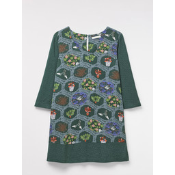 White Stuff Circle of Life Tunic - Ivy Green
