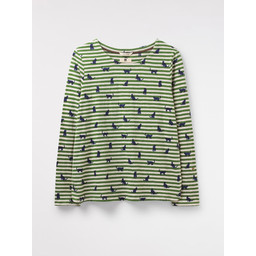 White Stuff Emmi Jersey Top - Ivy Green