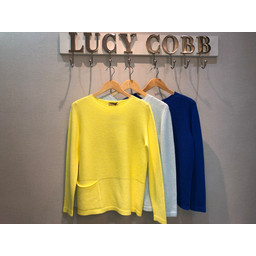 Lucy Cobb Remy Ribbed Jumper  - Lemon