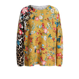 Oui Floral Print Jumper - Yellow Floral