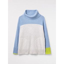 White Stuff Lowland Colourblock Jumper - Multicoloured