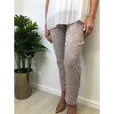 Bella 09 Jacquard Trousers - Light Taupe - Alternative 1