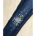 Polly Pearl Knee Jeans  - Denim - Alternative 1