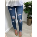 Riley Ripped Jeans  - Denim