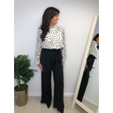 Paperbag Wide Leg Trousers - Black (90)