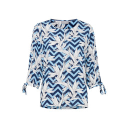 Fransa Bacampo 2 Blouse - Blue Multi