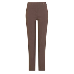 Robell Trousers Marie Fleece Lined Trousers in Taupe