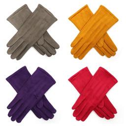 Lucy Cobb Velour Gloves - Fuchsia