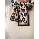 Layla Leopard Scarf Jumper - Beige - Alternative 3
